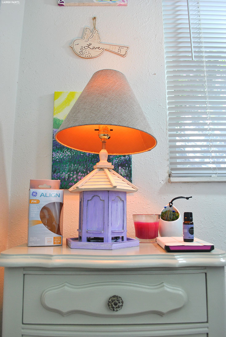 DIY Bedside Makeover: a Reinvented Nightstand + a Vintage-Inspired Birdhouse Lamp