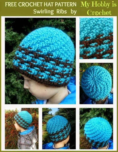 Free Crochet Hat Pattern For 6 Year Old : My Hobby Is Crochet: Crochet Hat Swirling Ribs - Free ...