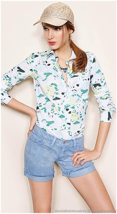 Camisas de mujer moda 2014 Gloria Jeans Wear.