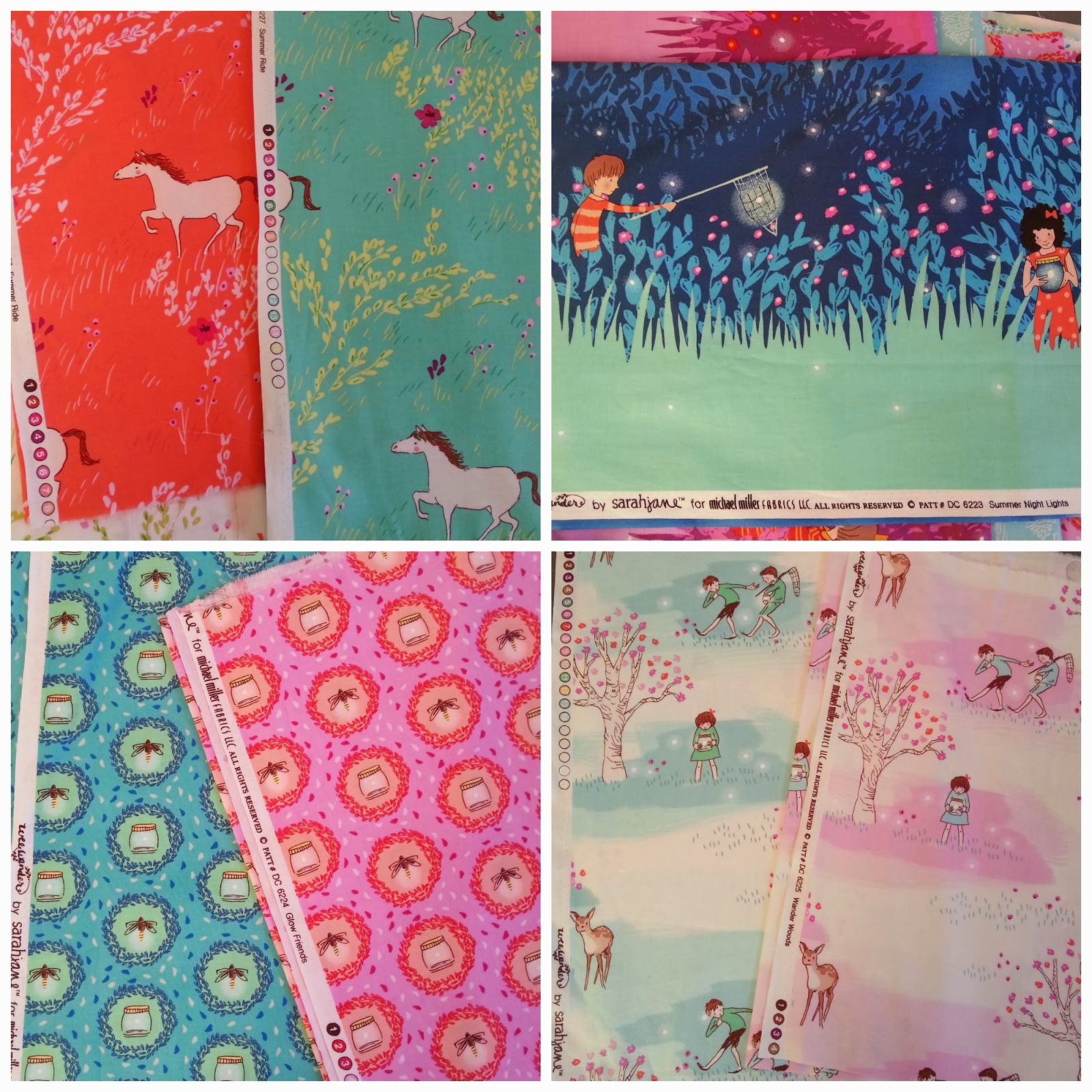 Wee Wander Fabric Collection by designer Sarah Jane Studios