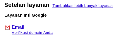 Verifikasi domain di Google Apps