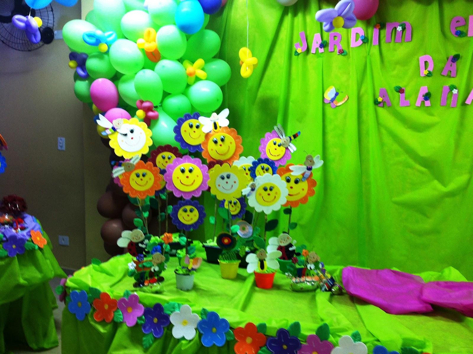 Brincando Com Idéias~ Ideias Para Festa Tema Jardim