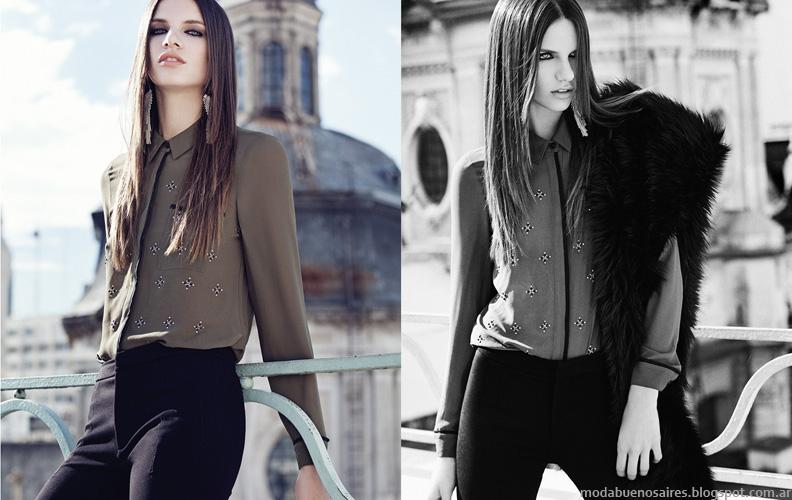 Otoño invierno 2014 Colección Mab camisas y blusas.