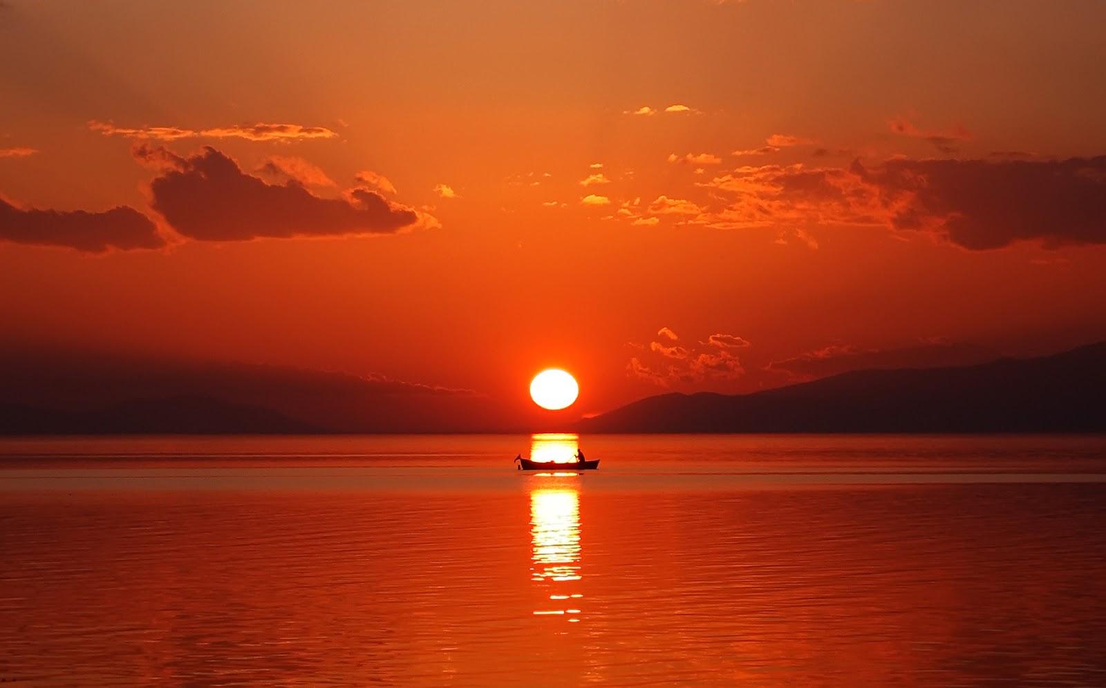 Iznik Gölü Gün Batımı Fotoğrafı