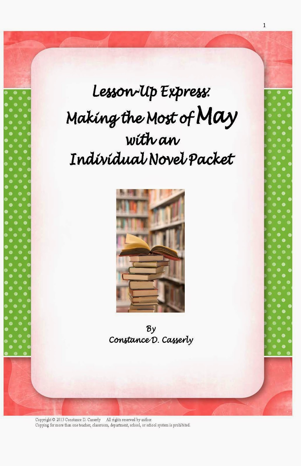 Language Arts Lesson - Making the Most of May