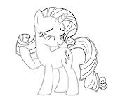 #1 Rarity Coloring Page