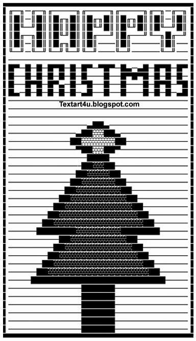 Happy Christmas Ascii Art For Facebook Status Cool Ascii Text Art 4 U