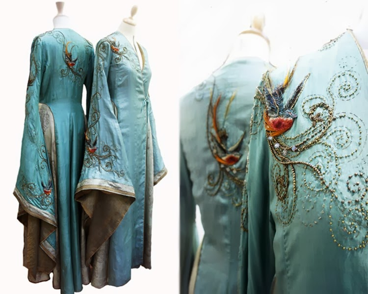 pintucks game of thrones embellished costumes