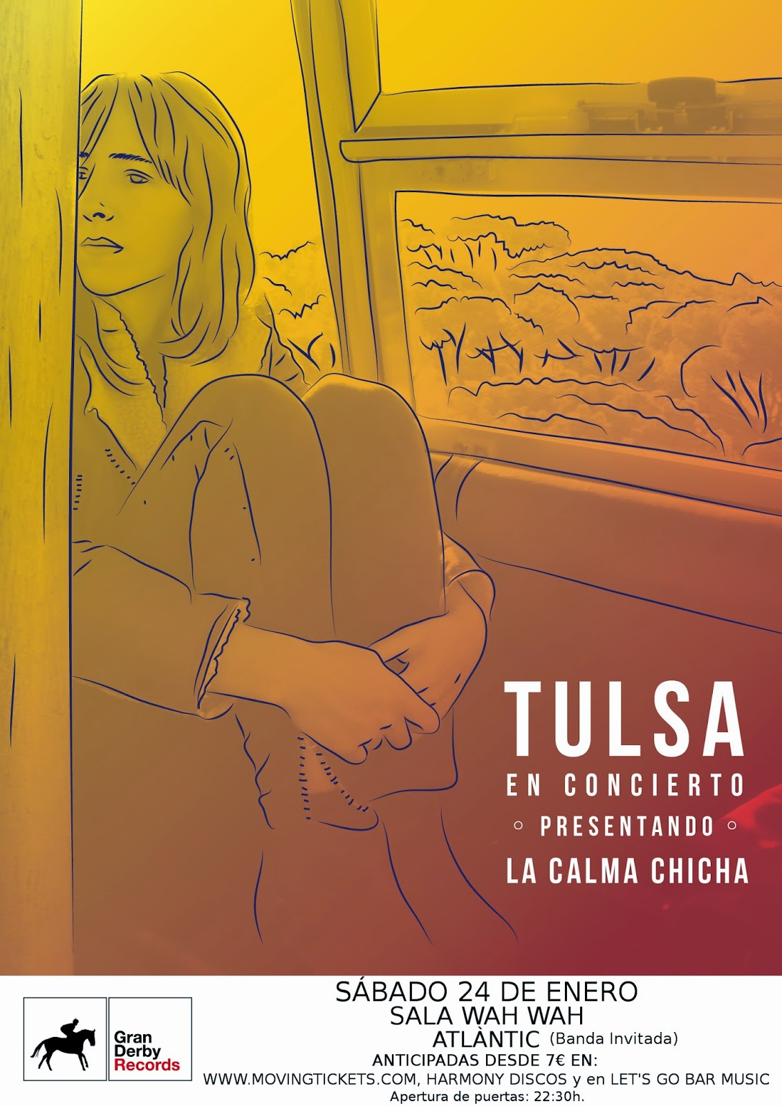 """Tulsa presentará """"La Calma Chicha""""en primicia en sala Wah Wah."""