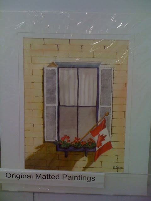 painting, Canadian Flag, water colour, Robert Reid, Canadian Artist, Art Emporium