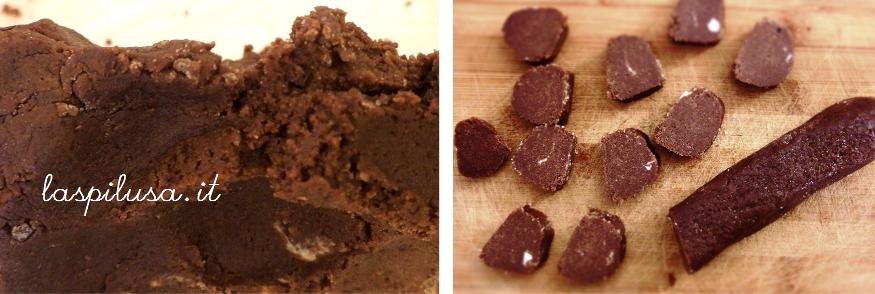 Sablés au chocolat o biscottini francesi al cioccolato con fior di sale