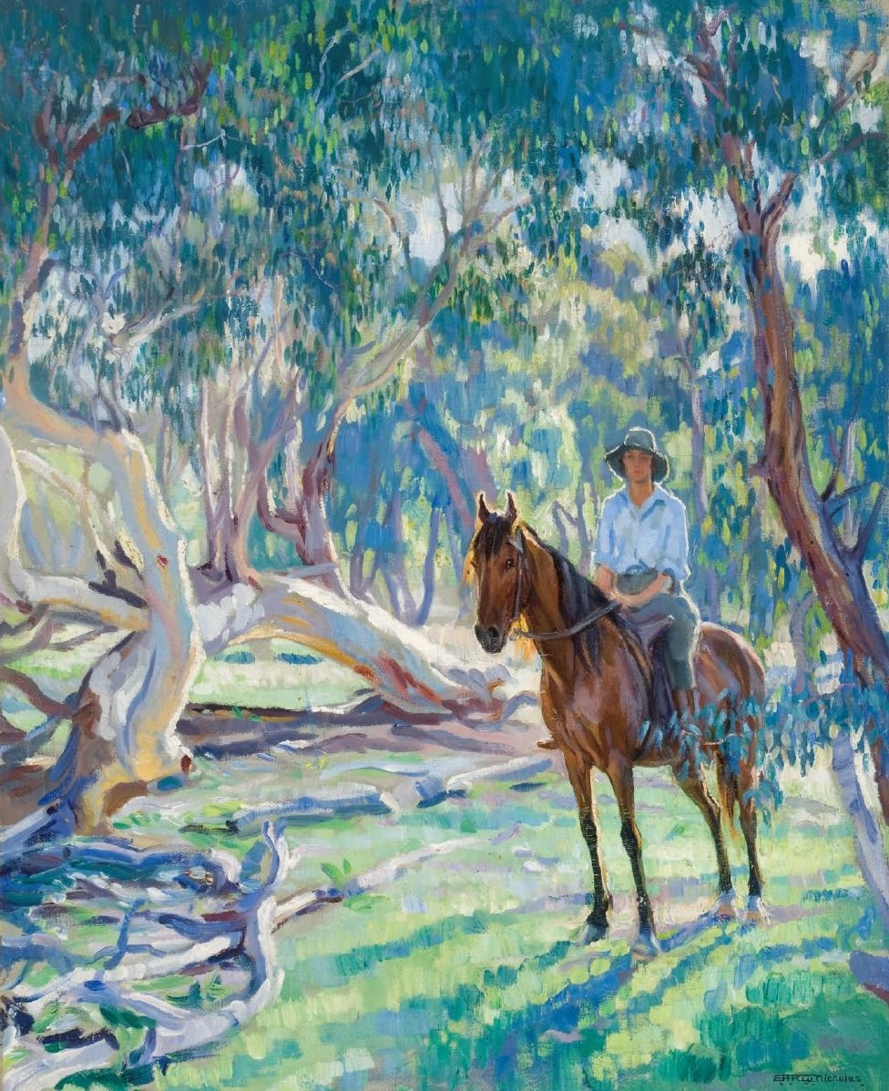 Hilda Rix Nicholas In the bush Dorothy Richmond on horseback