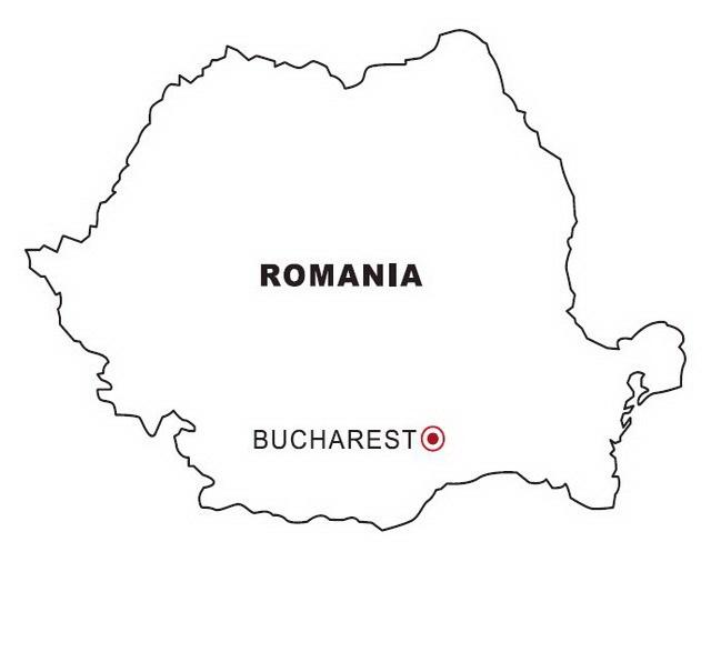 LAMINAS PARA COLOREAR - COLORING PAGES: Mapa y Bandera de Rumania ...
