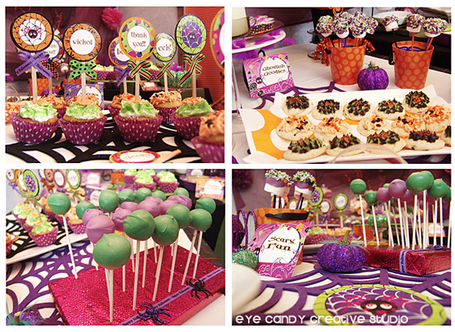 halloween cupcakes, cake pops, dessert table ideas for halloween