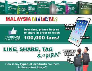 Like Malaysia IT Fair and Win iPad Air