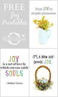 joy theme printables
