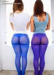 yoga see pants booty through Big