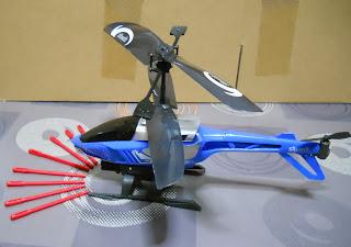 maqueta de helicóptero por infrarojos