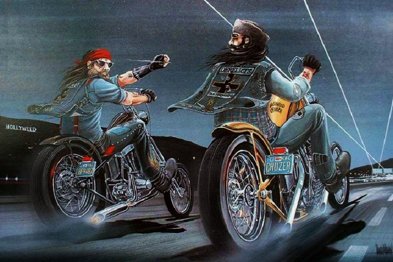 David Mann's Rare Biker Motorcycle Lifestyle Art 50 Masterpieces No 4 Easyriders