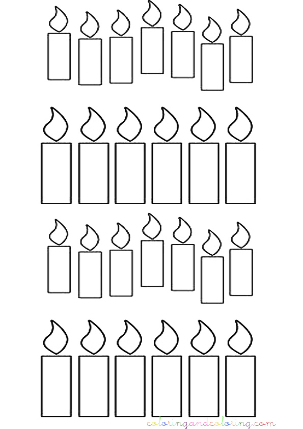 Birthday Candle Coloring Pages Birthday Candles Coloring Pages