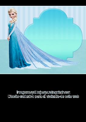Elsa de frozen para invitaciones