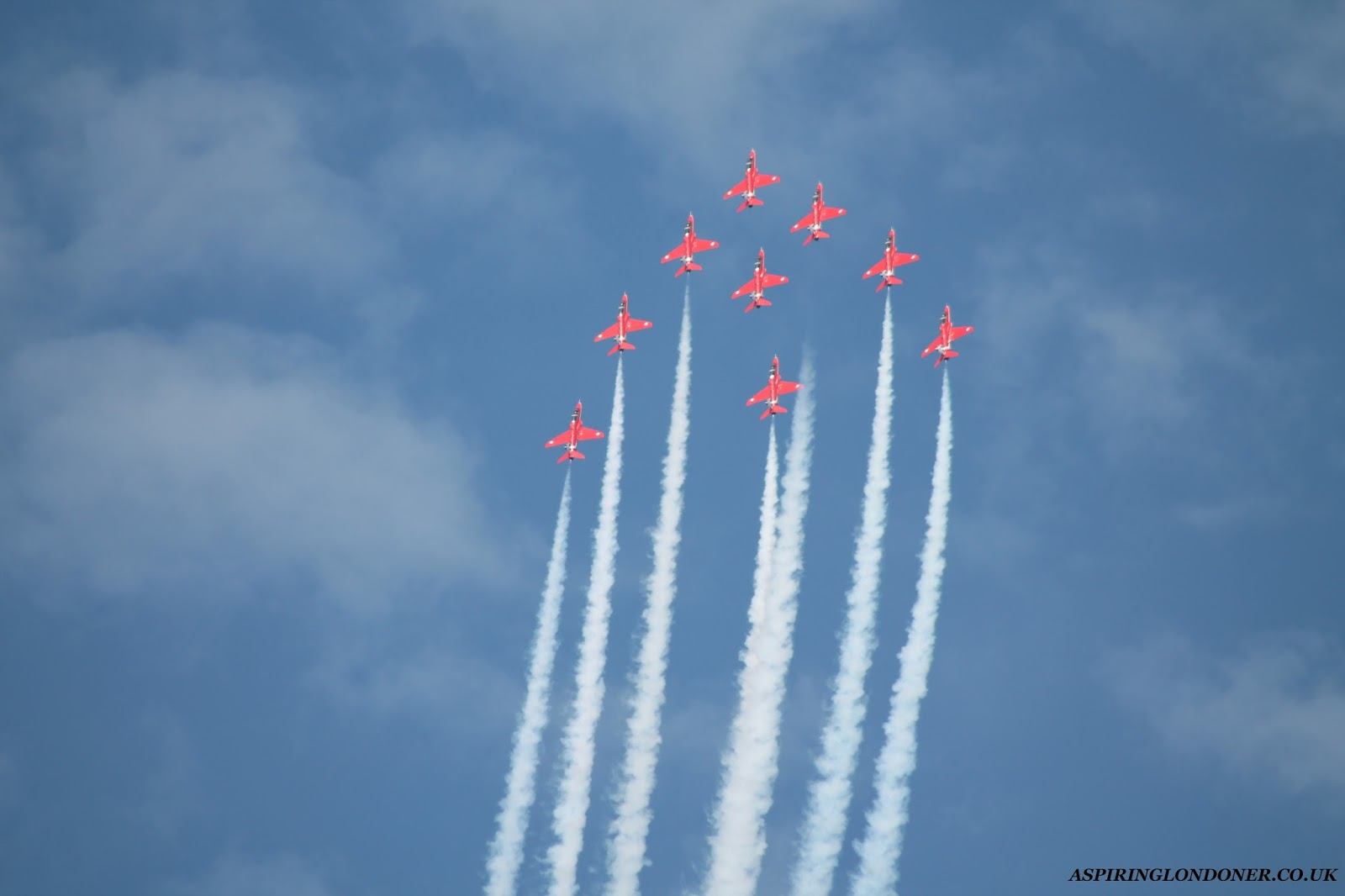 Sunderland International Airshow Red Arrows - Aspiring Londoner