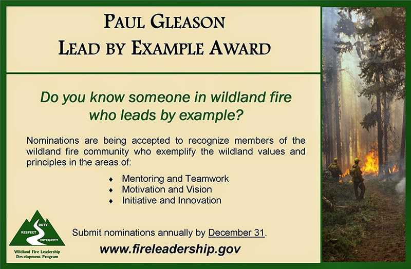 Lead by Example Award promo