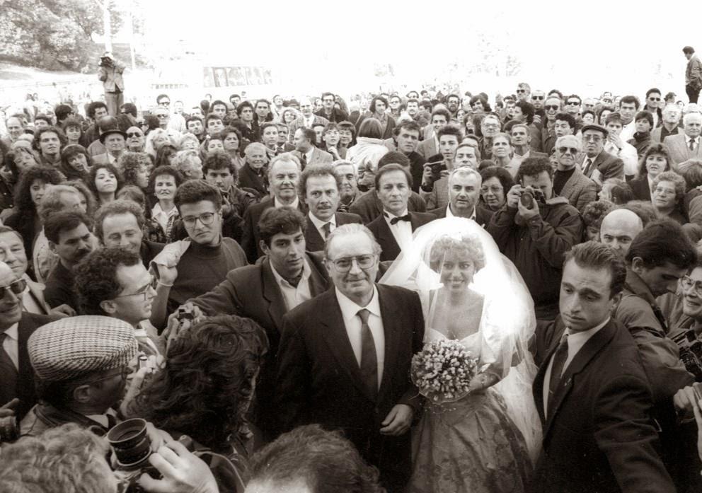Matrimonio Romano Mussolini : Oggi sposi matrimonio alessandra mussolini del