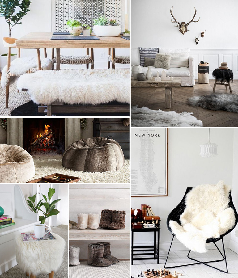 De la fourrure dans ma d co louise grenadine blog - Deco salon cocooning ...