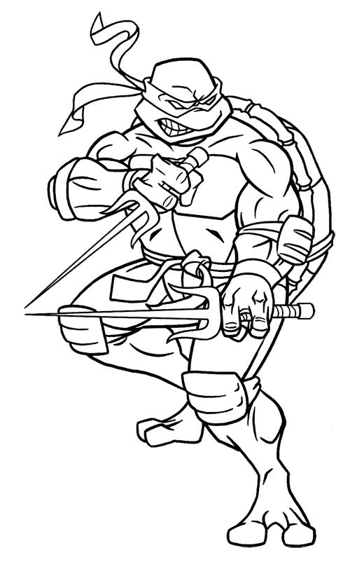 Dibujos animados para colorear: Tortugas Ninja para colorear