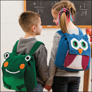 Jaybird Designs: Animal Backpacks - Crochet World Aug 2012