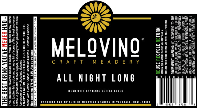 Melovino Meadery, Mead, All Night Long, Coffee