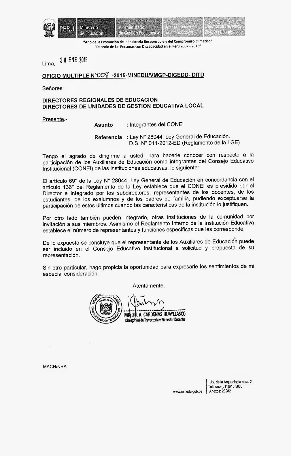 FENAEP: AUXILIARES DE EDUCACIÓN INICIAL NO DEBEN ASUMIR PRACTICA
