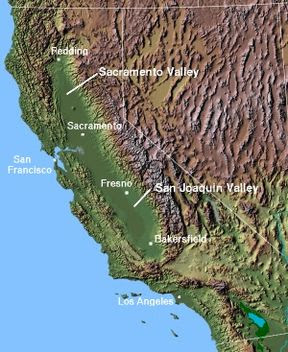 Map of Central California Geography