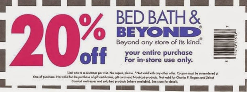 B bed bath and beyond coupons