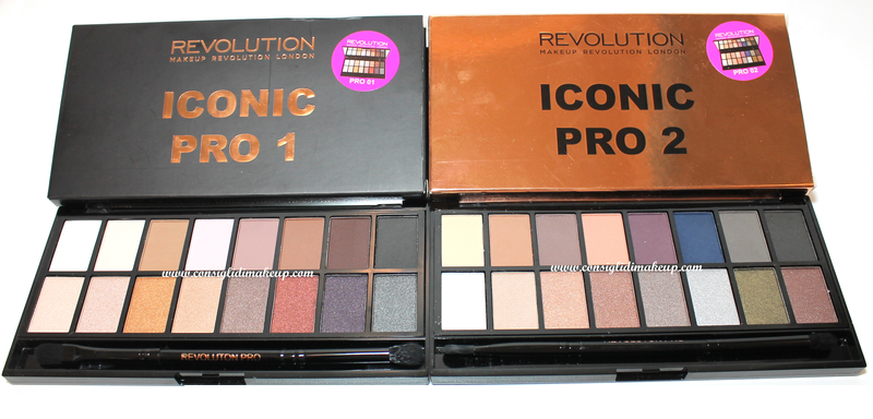 Review & Swatches Icon Pro 1 e 2 Palette - Makeup Revolution