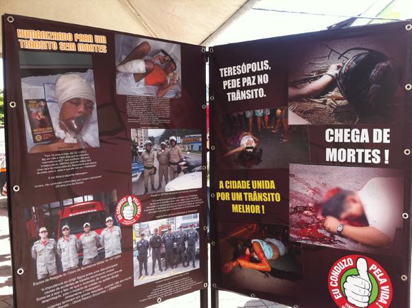 Prevenção de acidentes com motos: exposição mostra fotos com cenas de impacto