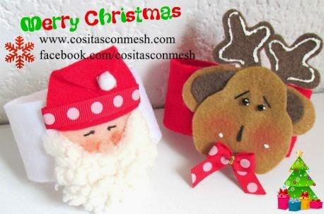 anillos-navideños-servilletas-manualidades