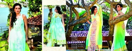 Two Color Combination Lawn Dresses