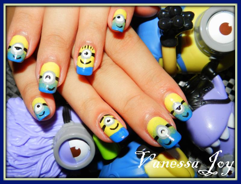 I Love My Nails Despicable Me Minions Nail Art