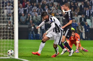 First Goal Juventus1-0 Real Madrid