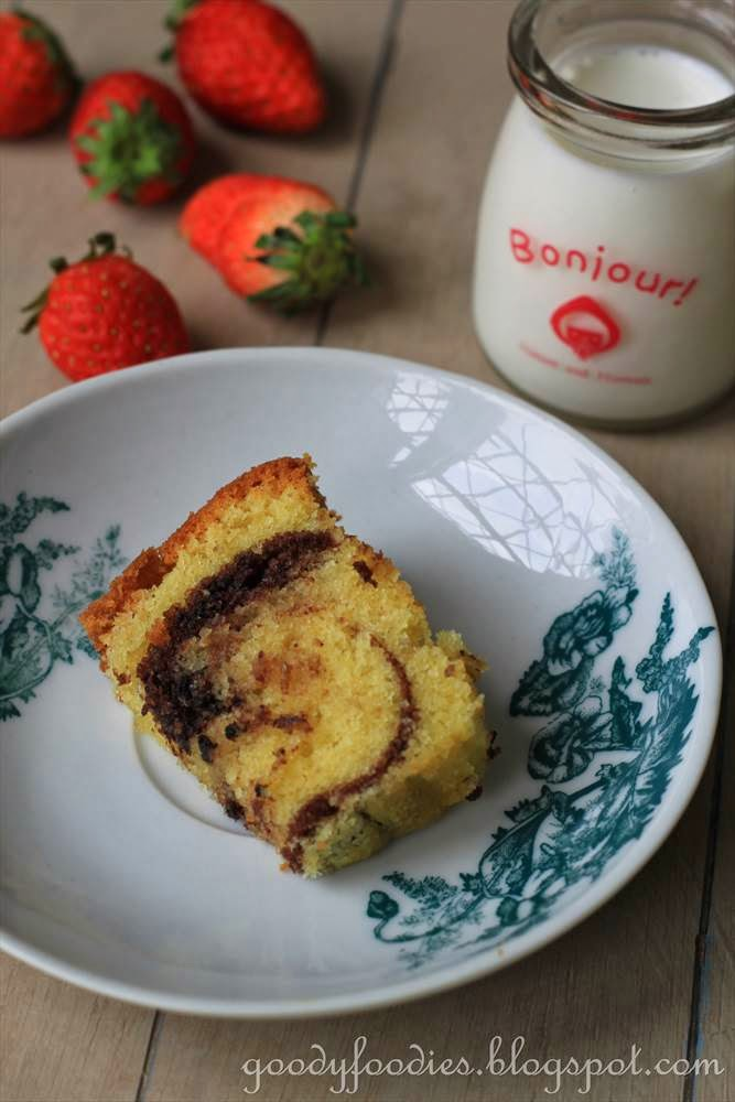 Marble Cake Recipe Kerala