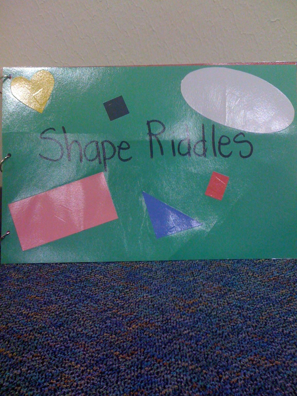 Crayon Bits - a first grade blog: Math Vocabulary Books - Shape Riddles