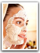 soin du visage farine mais