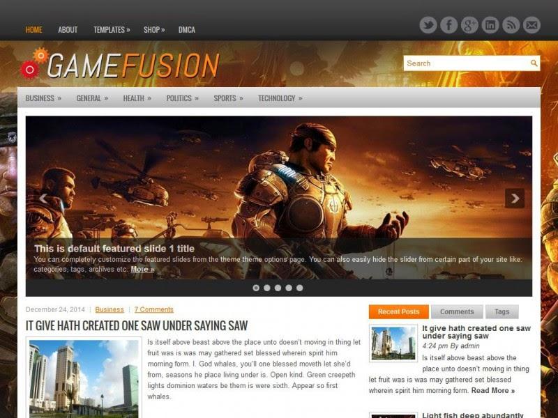 GameFusion - Free Wordpress Theme
