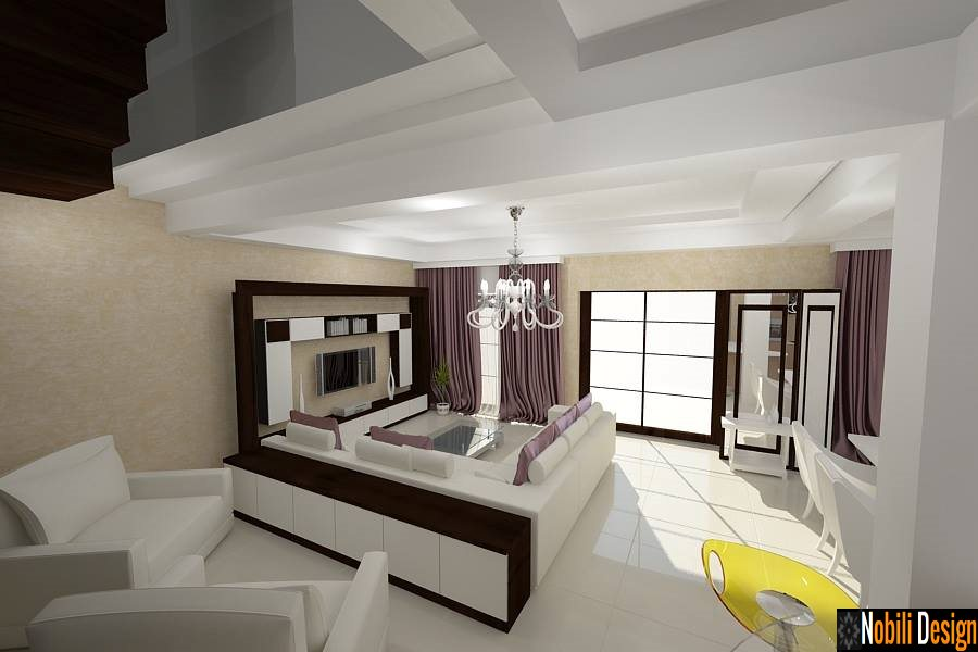 Design interior living modern bucuresti arhitect bucuresti for Architecture si