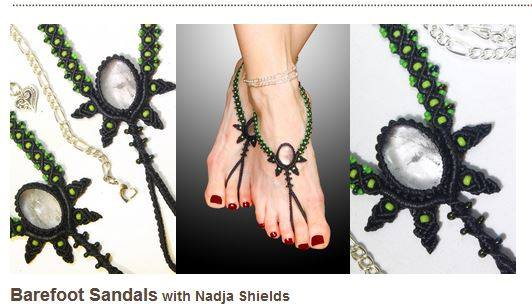 Barefoot Sandals class by Nadja Shields at CraftArtEdu