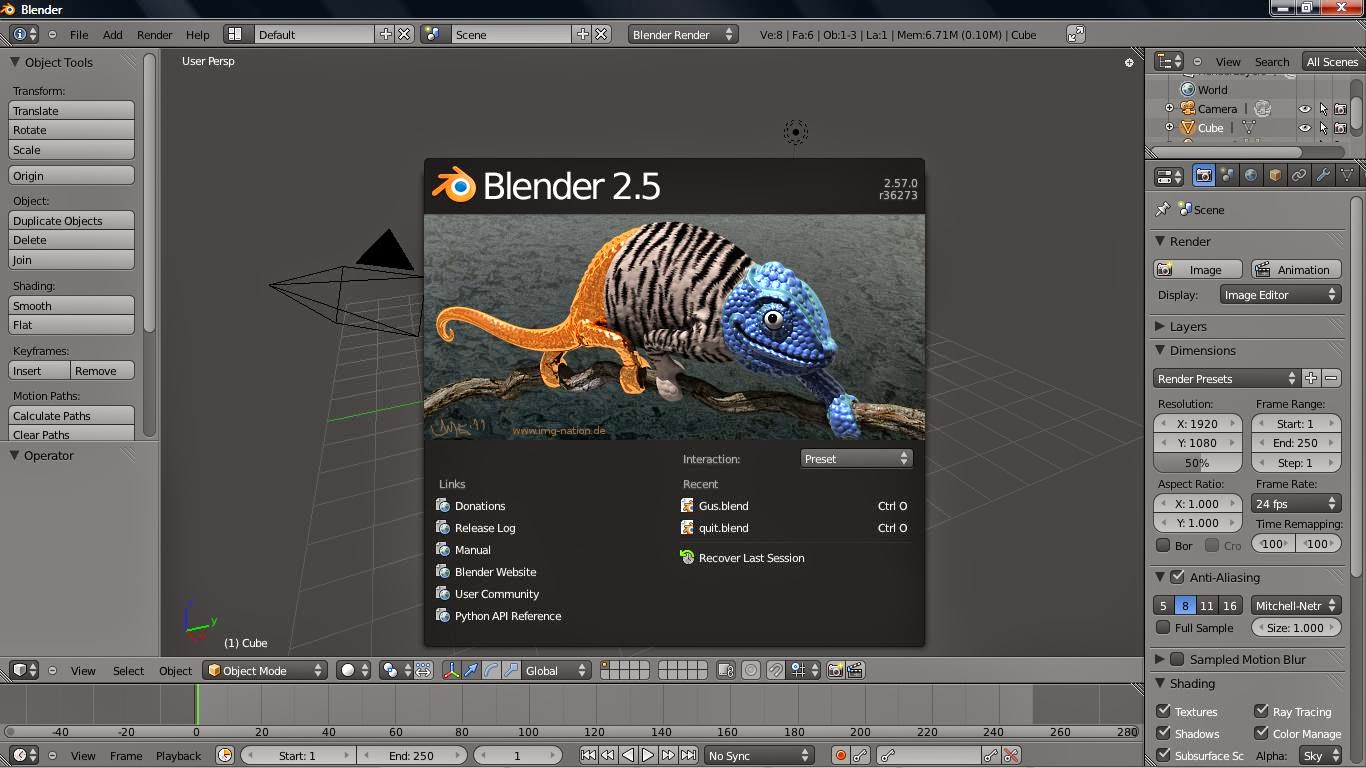 Information Technology Blender Open Source 2d 3d