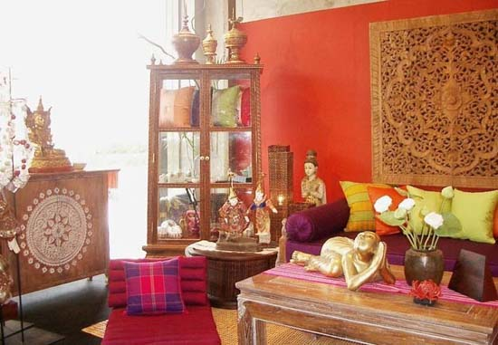 Home interior design home decoration ideas ethnic style for Ethnic home decor