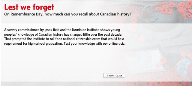 Lest we forget Canada Test